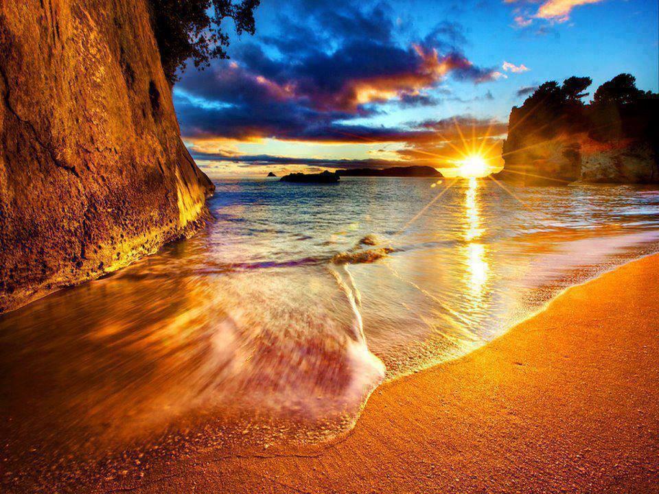 ein sonnenuntergang foto aus neuseeland