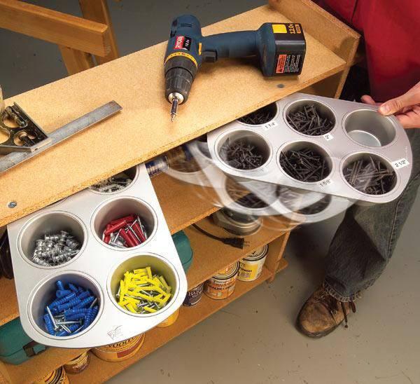 Backformen zum aufbewahren von Schrauben und anderem Kleinzeug
