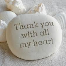 danke aus vollem herzen eingravierter stein