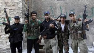 von amerikanern bewaffnete rebellen in syrien